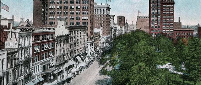 vintage postcard downtown Columbus Ohio Broad street, Tina Carter, TinaCarterEBA, find a neighborhood, metro Columbus, home search, relocation